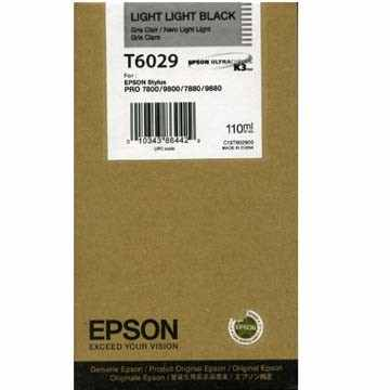 Genuine Epson T602900 Light Light Black Ink Cartridge