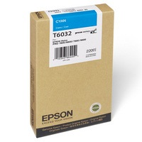 Genuine Epson T603200 Cyan Ink Cartridge