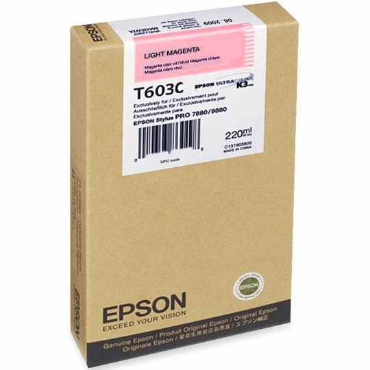 T603C00 Ink Cartridge - Epson Genuine OEM (Light Magenta)