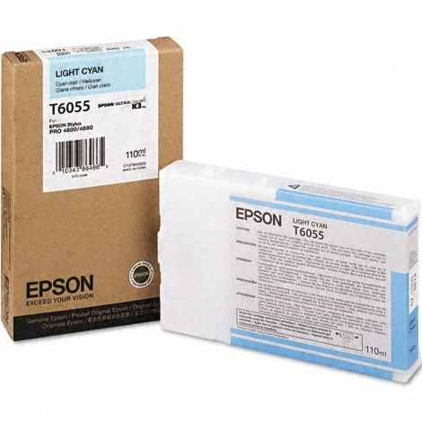 Genuine Epson T605500 Light Cyan Ink Cartridge