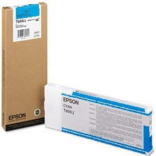 T606200 Ink Cartridge - Epson Genuine OEM (Cyan)
