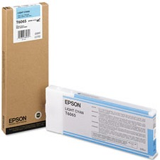 T606500 Ink Cartridge - Epson Genuine OEM (Light Cyan)