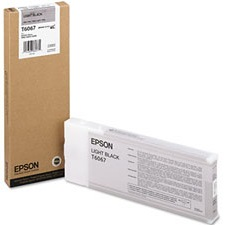T606700 Ink Cartridge - Epson Genuine OEM (Light Black)