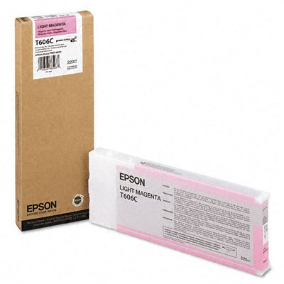 T606C00 Ink Cartridge - Epson Genuine OEM (Light Magenta)
