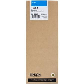 Genuine Epson T636200 Cyan Ink Cartridge