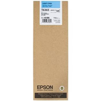 Genuine Epson T636500 Light Cyan Ink Cartridge