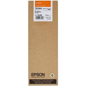 Genuine Epson T636A00 Orange Ink Cartridge