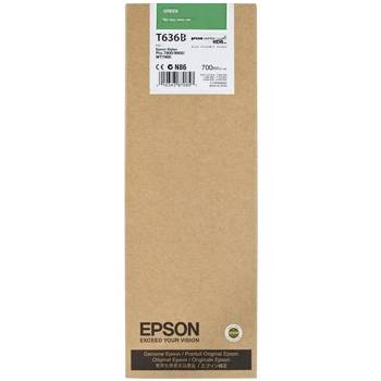 Genuine Epson T636B00 Green Ink Cartridge