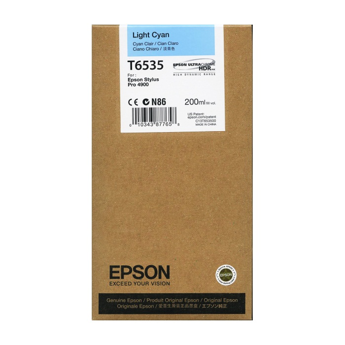 Genuine Epson T653500 Light Cyan Ink Cartridge