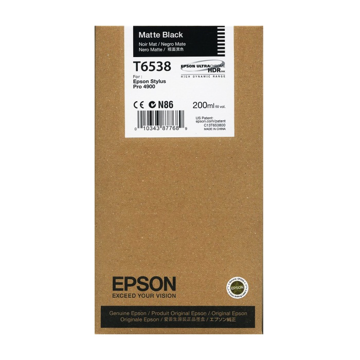 Genuine Epson T653800 Matte Black Ink Cartridge