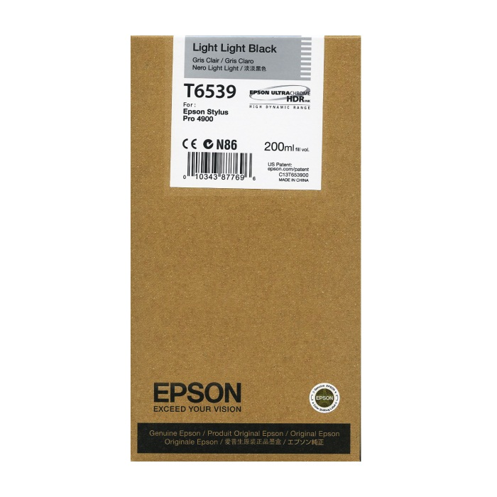 Genuine Epson T653900 Light Light Black Ink Cartridge