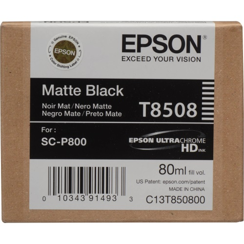 T850800 Ink Cartridge - Epson Genuine OEM (Matte Black)
