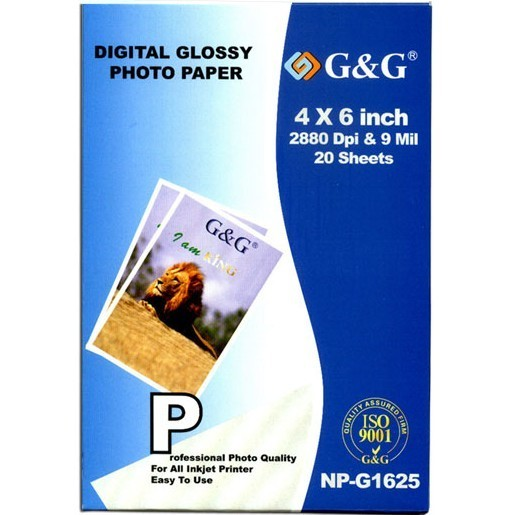 Compatible Generic 4X6 Photo Paper / 20 sheets Photo Paper