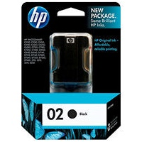 HP 02 Black Ink Cartridge - HP Genuine OEM (Black)
