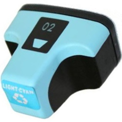 HP 02 Light Cyan Ink Cartridge - HP Remanufactured (Light Cyan)