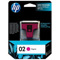 HP 02 Magenta Ink Cartridge - HP Genuine OEM (Magenta)