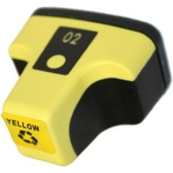 HP 02 Yellow Ink Cartridge - HP Remanufactured (Yellow)