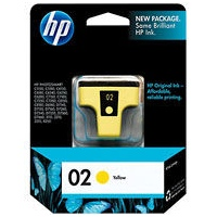 HP 02 Yellow Ink Cartridge - HP Genuine OEM (Yellow)