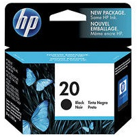 Genuine HP 20 Black Ink Cartridge