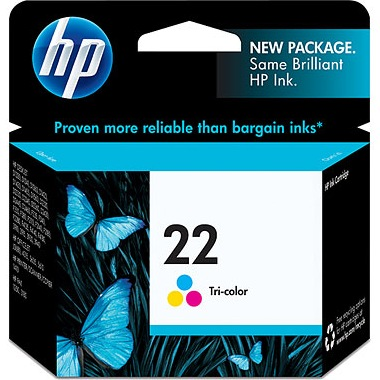 Genuine HP 22 Tricolor Ink Cartridge