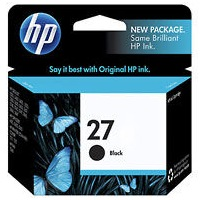 HP 27 Ink Cartridge - HP Genuine OEM (Black)