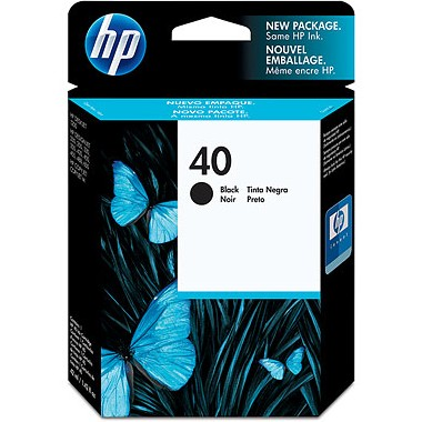 Genuine HP 40 Black Ink Cartridge