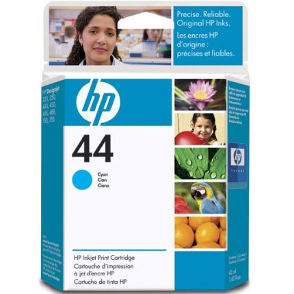 HP 44 Cyan Ink Cartridge - HP Genuine OEM (Cyan)