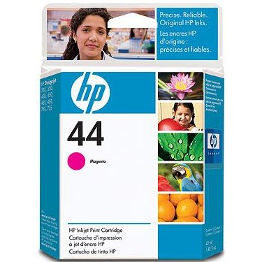 HP 44 Magenta Ink Cartridge - HP Genuine OEM (Magenta)