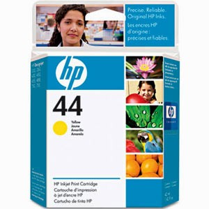 HP 44 Yellow Ink Cartridge - HP Genuine OEM (Yellow)