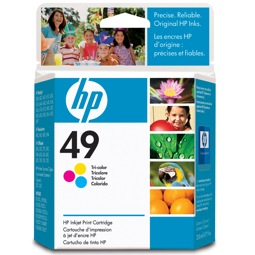 HP 49 Ink Cartridge - HP Genuine OEM (Tricolor)