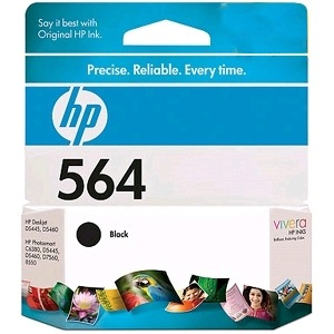 Genuine HP 564 Black Ink Cartridge
