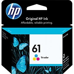 HP 61 Tricolor Ink Cartridge - HP Genuine OEM (Tricolor)