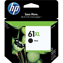 HP 61XL Black Ink Cartridge - HP Genuine OEM (Black)