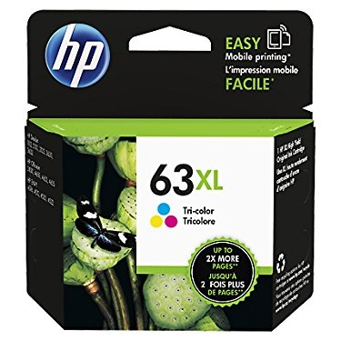 HP 63XL Tricolor Ink Cartridge - HP Genuine OEM (Tricolor)