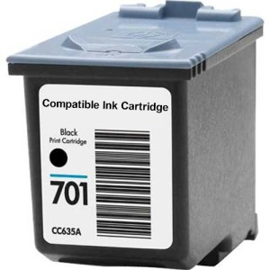 Compatible HP 701 Black Ink Cartridge