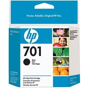 HP 701 Ink Cartridge - HP Genuine OEM (Black)