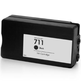 HP 711 Black Ink Cartridge - HP Remanufactured (Black)