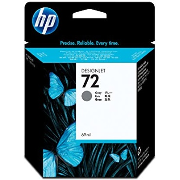HP 72 Gray Ink Cartridge - HP Genuine OEM (Gray)