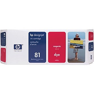 Genuine HP 81 Magenta Ink Cartridge