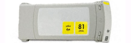 HP 81 Yellow Remanufactured
