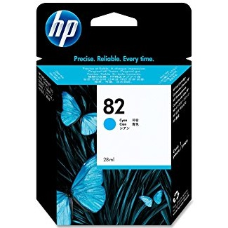 HP 82 Cyan Ink Cartridge - HP Genuine OEM (Cyan)