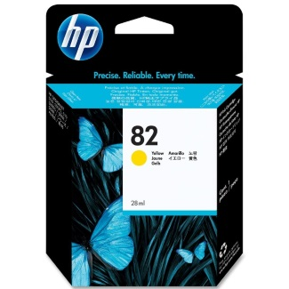 Genuine HP 82 Yellow Ink Cartridge