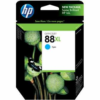 HP 88XL Cyan Ink Cartridge - HP Genuine OEM (Cyan)