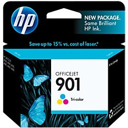 HP 901 Tricolor Ink Cartridge - HP Genuine OEM (Tricolor)