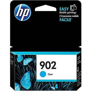 HP 902 Cyan Ink Cartridge - HP Genuine OEM (Cyan)
