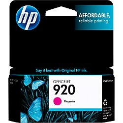 Genuine HP 920 Magenta Ink Cartridge