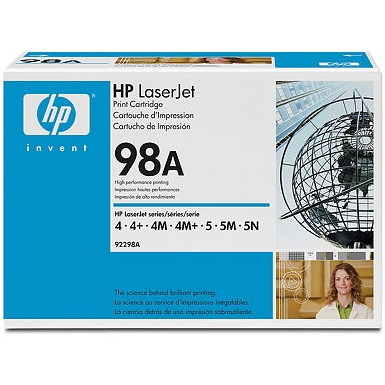 92298A Toner Cartridge - HP Genuine OEM (Black)