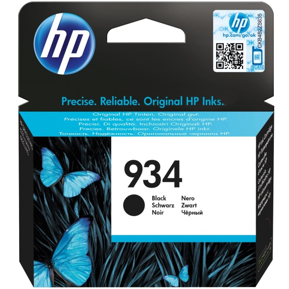 Genuine HP 934 Black Ink Cartridge