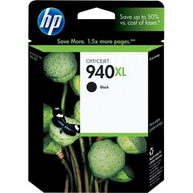 HP 940XL Black Ink Cartridge - HP Genuine OEM (Black)