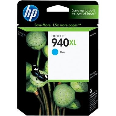 HP 940XL Cyan Ink Cartridge - HP Genuine OEM (Cyan)